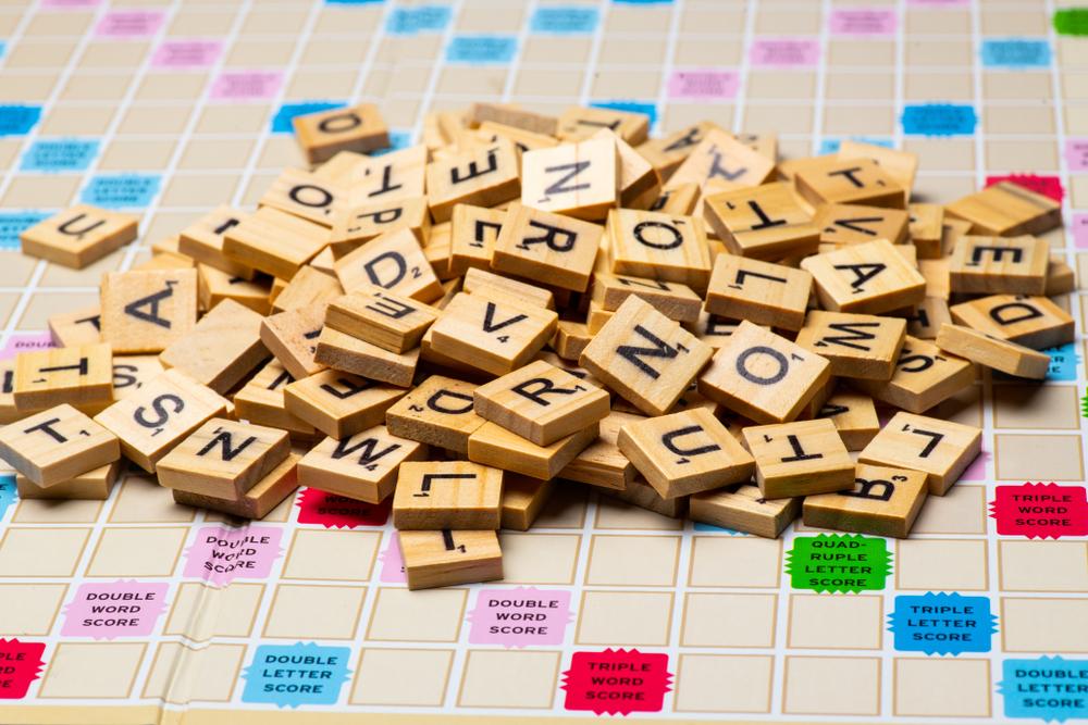 Scrabble tiles, random letters